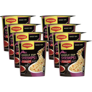 Spar King-Maggi Magic Asia Noodle Cup Shrimps Instant Nudelsnack Nudeln asiatisch 8 x 64 g