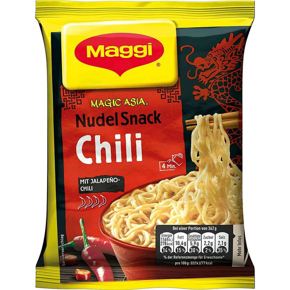 Spar King-Maggi Magic Asia Nudel Snack Chili Fertiggericht Instant Nudeln 12 x 62g