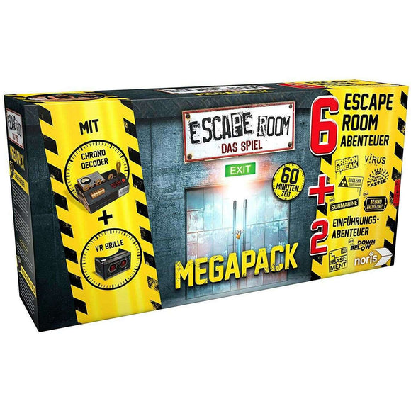 Spar King-Noris 606101831 Escape Room Mega Pack 6 Fälle Mini Game VR-Brille Chrono Decoder
