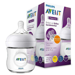 Spar King-Philips SCF030/17 Avent Natural Flasche 125 ml Anti-Kolik-System BPA-frei Baby
