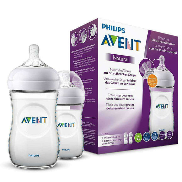 Spar King-Philips SCF033/27 Avent Natural Flasche 260 ml Anti-Kolik transparent 2er Pack