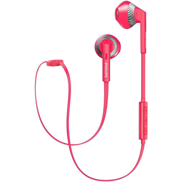 Spar King-Philips SHB5250PK In-Ear Bluetooth Kopfhörer Mikrofon iPhone Android pink