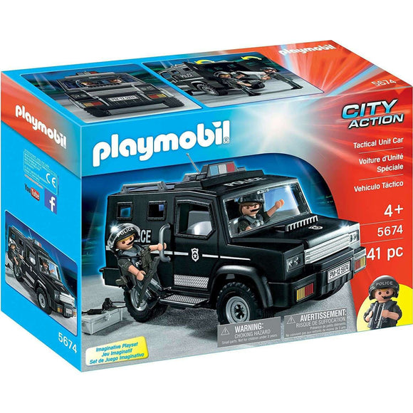 Spar King-Playmobil City Action 5674 Tactical Unit Car Spielfigur Spielzeug Set 41 Teile
