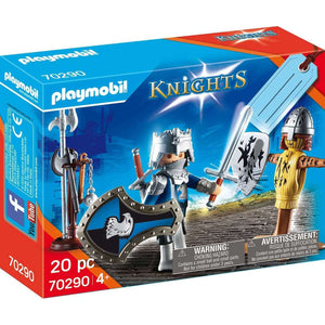 Spar King-Playmobil Knights 70290 Ritter mt Stichpuppe Minifigur Spielzeug Set  20 Teile