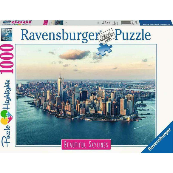 Spar King-Ravensburger Puzzle 14086 New York Beautiful Skylines 1000 Teile  70 x 50 cm