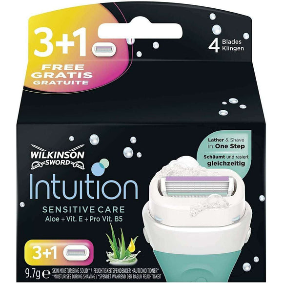 Spar King-Wilkinson Sword Intuition Sensitive Care Rasierklingen Damen Rasierer 4er Pack