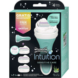 Spar King-Wilkinson Sword Intuition Sensitive CareSet Damen Rasierer 3 Ersatzklingen