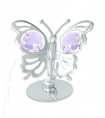 Crystocraft Mini Butterfly - Silver