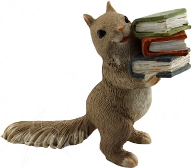 Bella Collection - Mini Squirrel with Books