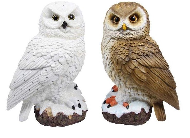 Owl On Base - 26cm (Assorted)