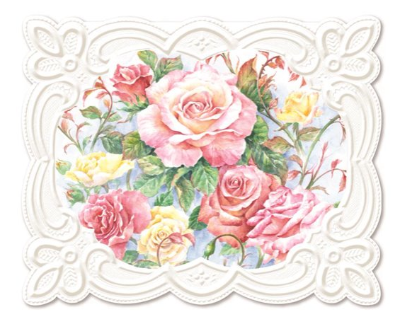 Roses In Bloom Notecard