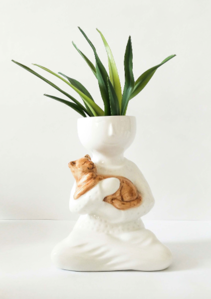 Love My Cat Planter