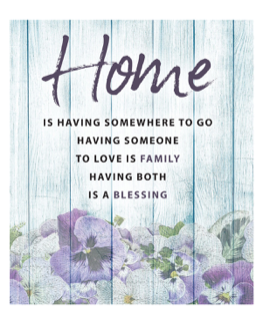 Message Plaque - Home Blessing