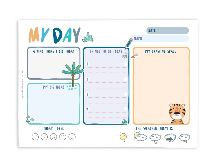 My Day Planner Notepad - Blue