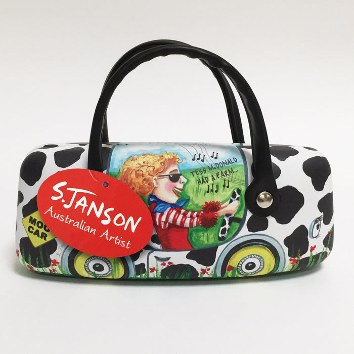 Glasses Case 'Moo Car' - By Sue Janson