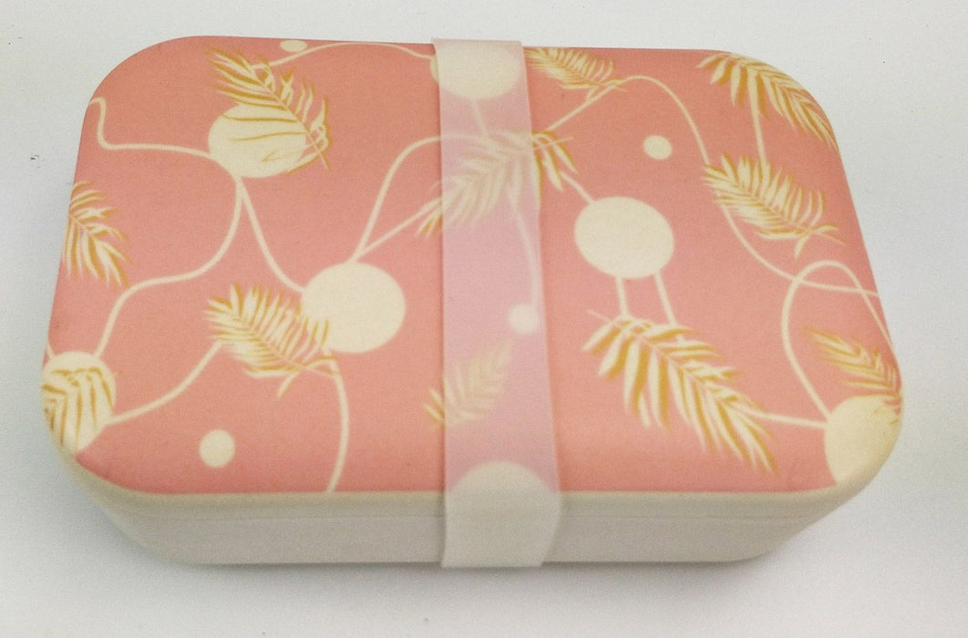 Palm Bamboo Container - Pink