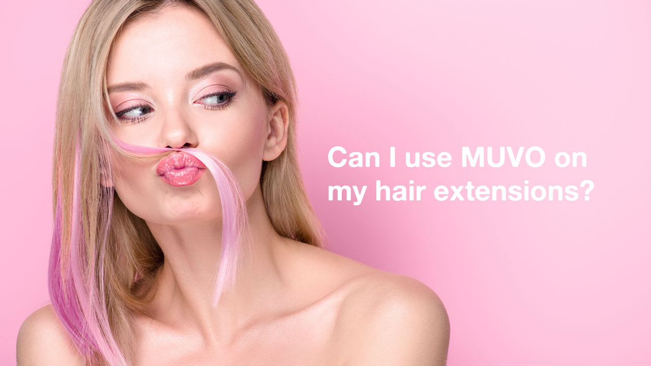 Can I use MUVO on my hair extensions?