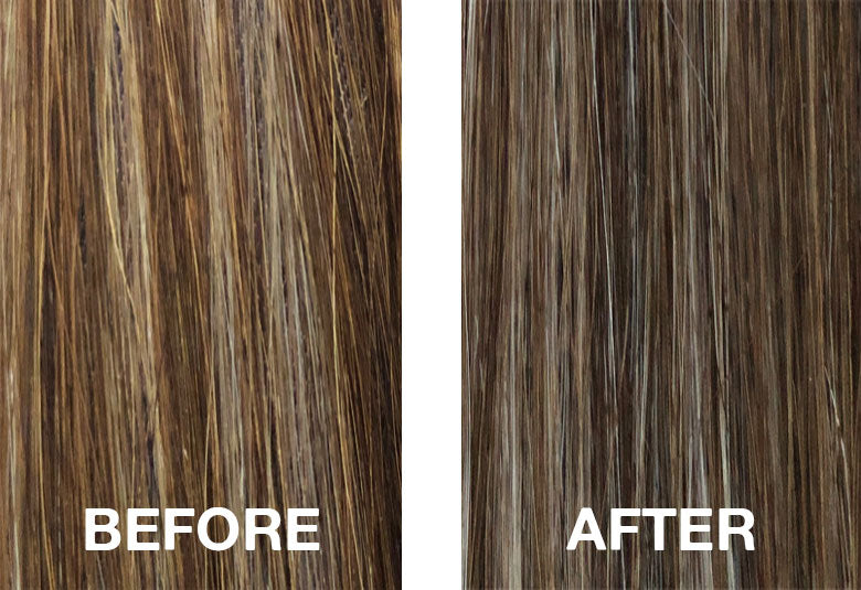 Cool your brassy highlights and balayage
