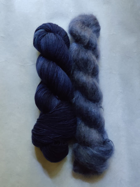 Mohair Hat Kit - Dusk