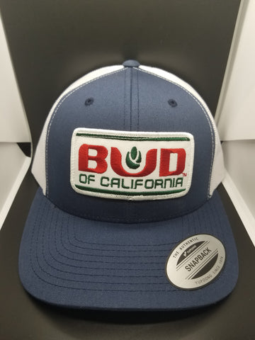 Navy/White Bud of California Trucker Hat