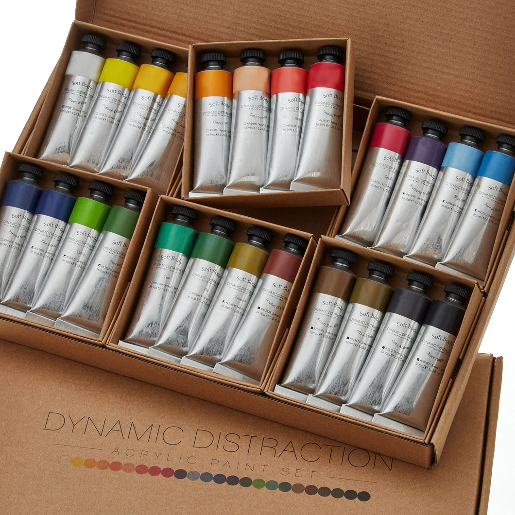 Acrylic Paint Set - 24 Soft Body