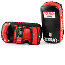 Load image into Gallery viewer, YOKKAO Curved Kicking Pads Black/red - YOKKAO