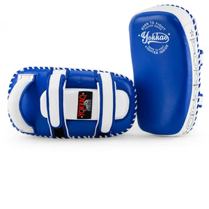 Kicking Pads Microfiber Leather Blue/White - YOKKAO