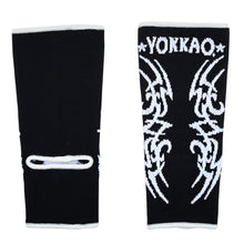 Load image into Gallery viewer, YOKKAO Tribal Muay Thai Ankle Guards Black - YOKKAO