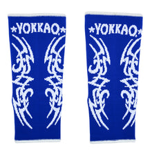 Load image into Gallery viewer, YOKKAO Tribal Muay Thai Ankle Guards Blue - YOKKAO