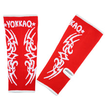 Load image into Gallery viewer, YOKKAO Tribal Muay Thai Ankle Guards Red - YOKKAO