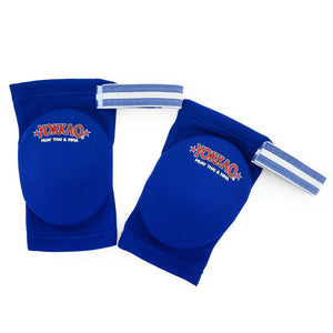 Yokkao Muay Thai Boxing Elbow Guard Blue Cotton - YOKKAO