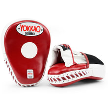 Load image into Gallery viewer, Focus Mitts Close-Finger Biking Red/White - YOKKAO