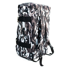 Load image into Gallery viewer, Convertible Grey Camo Gym Bag