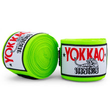 Load image into Gallery viewer, YOKKAO Muay Thai Hand Wraps Green Neon - YOKKAO