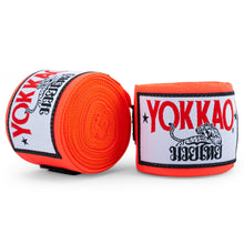 Load image into Gallery viewer, YOKKAO Muay Thai Hand Wraps Orange Neon - YOKKAO ?id=14638414266440