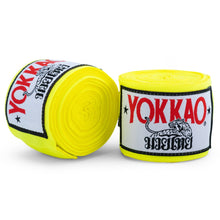 Load image into Gallery viewer, YOKKAO Muay Thai Hand Wraps Yellow Neon! - YOKKAO