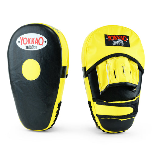 Long Focus Mitts Microfiber Black/Yellow - YOKKAO