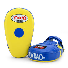 Load image into Gallery viewer, Long Focus Mitts Microfiber Yellow/Blue - YOKKAO