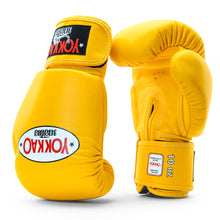Load image into Gallery viewer, Matrix Gold Fusion Boxing Gloves - YOKKAO