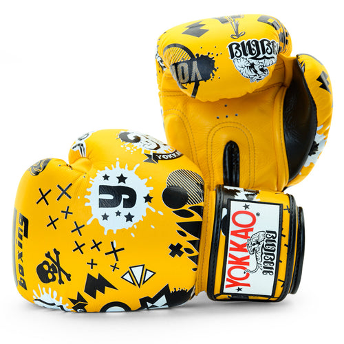 Rock'n'Rolla Gold Fusion Boxing Gloves - YOKKAO
