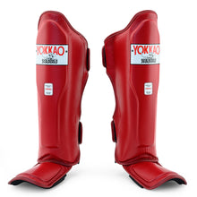 Load image into Gallery viewer, Matrix Biking Red Shin Guards - YOKKAO