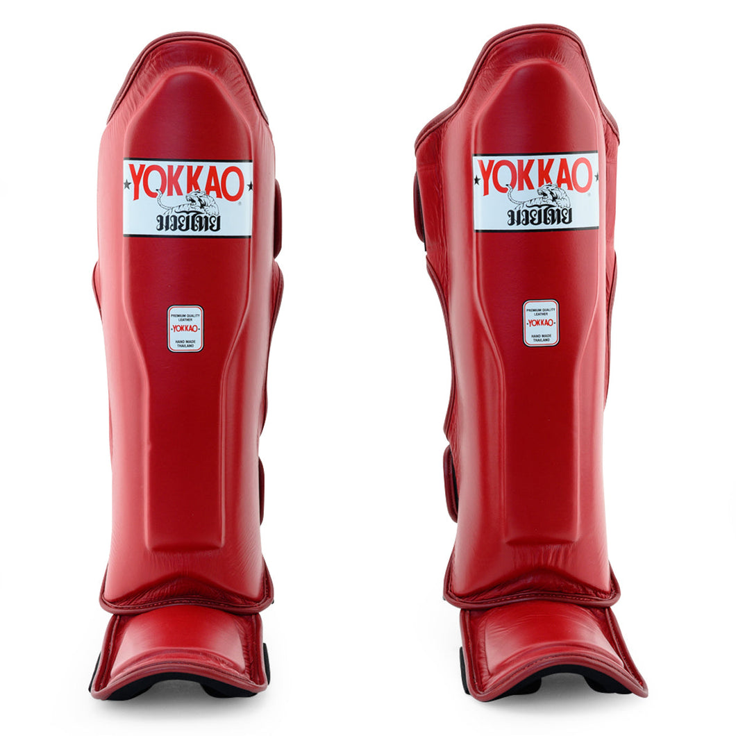 Matrix Biking Red Shin Guards - YOKKAO