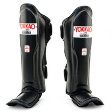 Load image into Gallery viewer, Matrix Black Shin Guards - YOKKAO