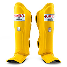 Load image into Gallery viewer, Matrix Gold Fusion Shin Guards - YOKKAO