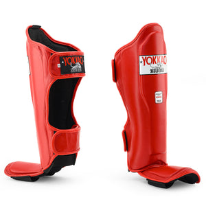 Matrix Red Shin Guards - YOKKAO