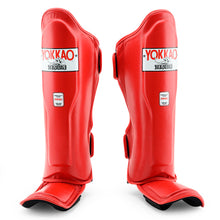 Load image into Gallery viewer, Matrix Red Shin Guards - YOKKAO