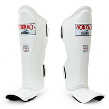 Load image into Gallery viewer, Matrix White Shin Guards - YOKKAO
