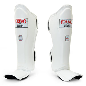 Matrix White Shin Guards - YOKKAO