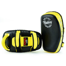 Load image into Gallery viewer, Kicking Pads Microfiber Leather Black/Yellow - YOKKAO