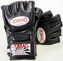 Load image into Gallery viewer, YOKKAO Black Competition MMA Gloves With Thumb